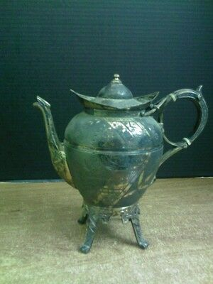 Antique Rogers Smith & Co New Haven CT Coffee/Tea Pot- Silverplate