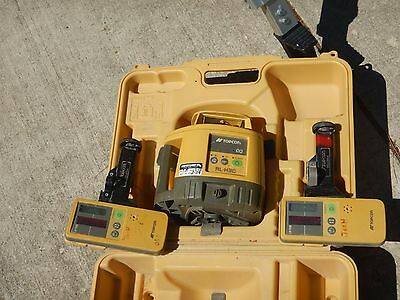 Topcon RL-H3C rotary Laser Level with tripod & rod