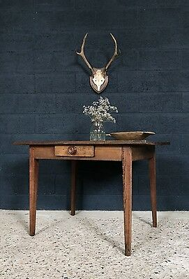 Lovely Antique French Country Farmhouse Kitchen Dining Table Desk