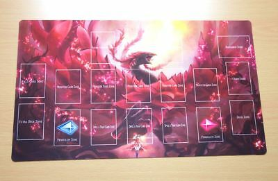 C1514# Free Mat Bag Akiza Izinski Black Rose Dragon Yugioh TCG Playmat Layout