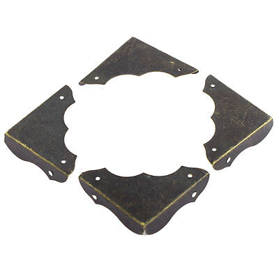 SY Metal Table Retro Style Corner Covers Protector 40mmx40mm 4 Pcs Bronze