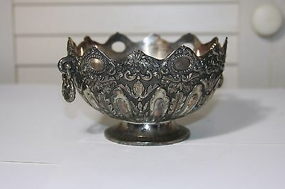 Vintage Metal Embossed Decorative  Bowl Dish Home Decor