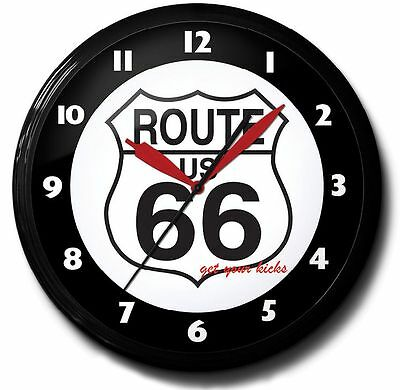 Route 66 Neon Clock Hand Made In The USA 20 Inch
