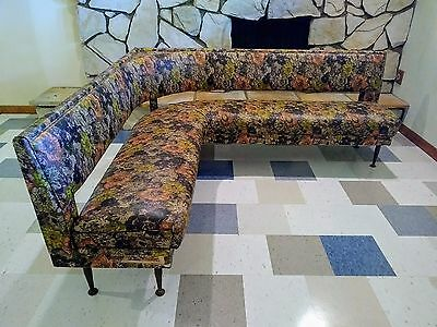 Mid Century Retro  Banquette Bench & Table