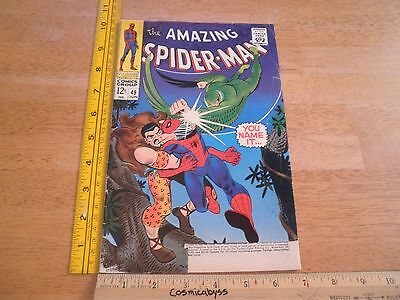 Amazing Spider-Man 49 VG- Silver Age 1960s comic Kraven the Hunter
