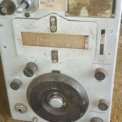 Old Swissair Ww2 Signal Corps Us Army Radio Transmitter Unit, Bc-696-A For Parts