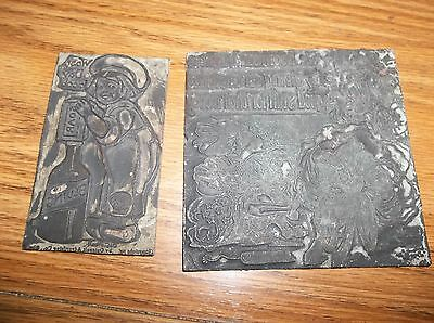 2 Vintage Lead Printer Plates, Bluing Soap, Canon with fireworks