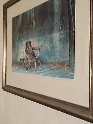 Rolf Harris Limited Edition Framed Print Love Along The Seine