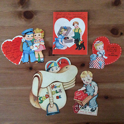 Vintage Lot of 19 Mixed 1940's Valentine's Day Cards