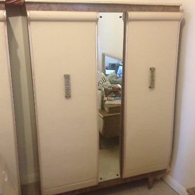 Early 1960's antique/vintage Stonehill Wardrobe with mirror
