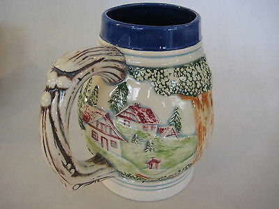 "Vintage Hand Painted Art Porcelain/Pottery Beer Stein, ""Specially For Jack"""