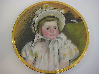 "Mary Cassatt Detail from Simone in a White Bonnet Plate, Pickard China, 8 1/4"" D"