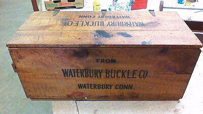 Handmade Wood Vtg Carpenters Tool Chest Wooden Storage Box NICE! Waterbury Conn
