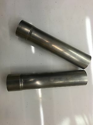 """Bundle of 2: 2.5"""" OD -  2.5"""" ID 12"""" Long 304 Stainless Steel Exhaust pipe"""