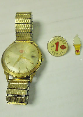 Vintage Lot - Dairy Queen Pins and Watch - Customer Service, Ice Cream Cone