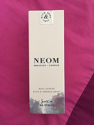 NEOM Scent to De-Stress BATH & SHOWER DROPS ~ Beautiful essential oils ~ BNIB