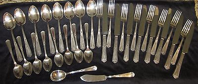 Vintage R&B A1 International Silver Silverplate Complete Set 1926 Lyric Pattern