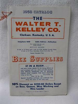 1958 Walter Kelley Bee Supplies Catalog Beekeeping Vtg Honey Antique Old Hive