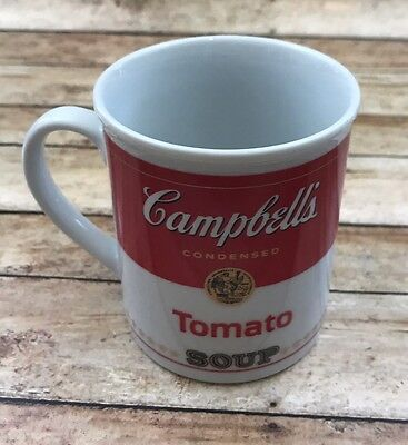 """Campbell Soup Company Coffee Cup Mug with Tomato Soup Label 125th Anniversary 4"""""""