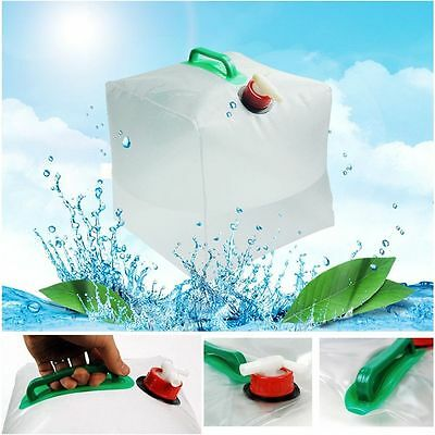 Drinking Water Bag Water Carrier Container Collapsible For Camping & Hiking