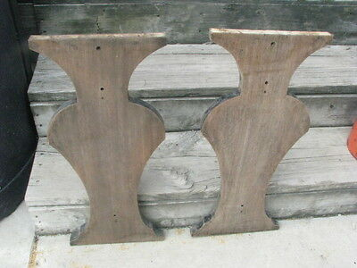 Antique Vintage Mahogany Table Bases / Architectural Salvage. Table Legs. Bench