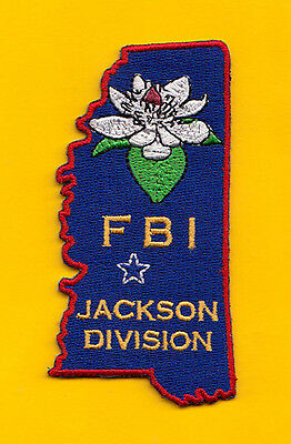 L5 * Gman Fbi Jackson Mississippi Ra Federal Police Patch State Shape Atf Dea