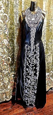 Massive Antique Marcasite Panel With Matching Fringe Adorns OOAK Gown