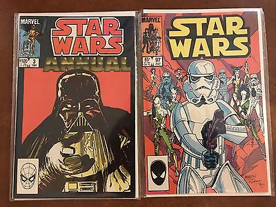 Vintage Marvel Star Wars Comic Book Lot Annual #3 And 97