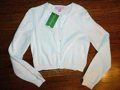 Girl's Lilly Pulitzer Colleen White Cardigan Size XL 10/12/14-NWT