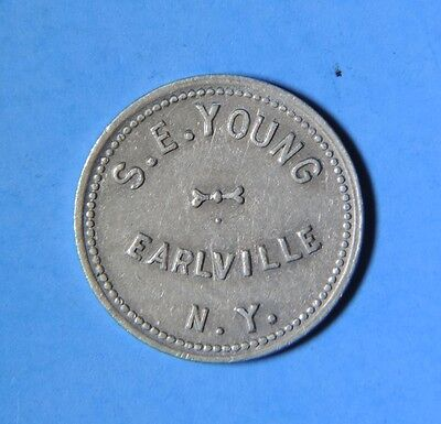 S.E. Young Earlville NY New York Good for 5c Cents in Trade Token