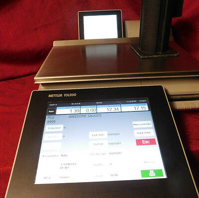 NO PASSWORDs! Mettler Toledo Scale Impact Pact M Scale & Printer CLEANED! #304