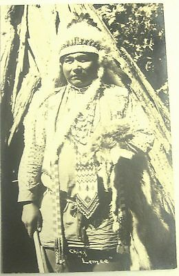 Rare Signed Rppc Yosemite Native American Indian Chief Lemee Autographed Photo