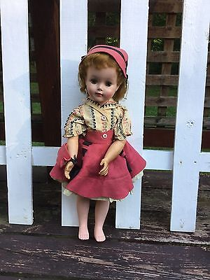 "VINTAGE 1950's 60's 23"" AMERICAN CHARACTER DOLL ORIGINAL, OPEN & CLOSED EYES"