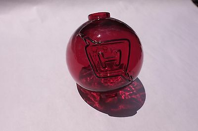 NEW Fenton Ruby Red Glass Harger Lightning Rod Ball RARE ANTIQUE