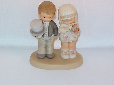 Enesco Memories Of Yesterday Here Comes The Bride And Groom 1988
