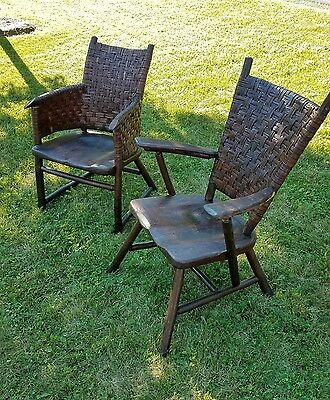 RARE Vintage Old Hickory Chairs, adirondack antique, rustic lodge furniture