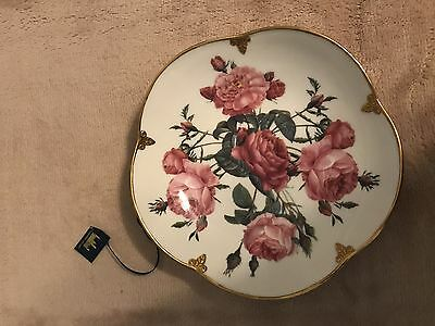 """The Smithsonian Collection Crafted By Goebel 7.5"""" Sweet Dish Gold Trim-Nib"""