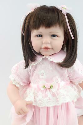 "21"" Lifelike Reborn Baby Doll Handmade Soft Vinyl Newborn Cute Baby Girl Dolls"