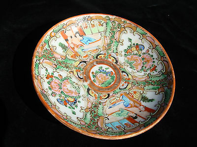 Unusual Small Antique Chinese porcelain Rose Medallion Famille Dish Plate Saucer