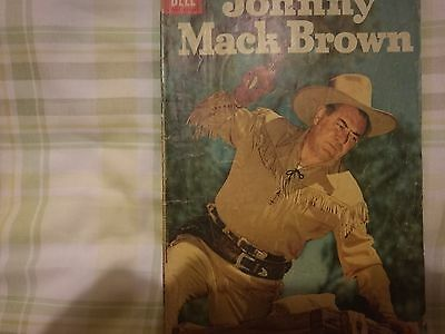 Dell 4 Color Comics 776 Johnny Mack Brown Pic Cover  Western 1957 Silver Age