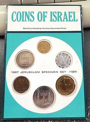 Israel 1967, JE 5727, Official 6 Coin Mint Set, KM# MS 20