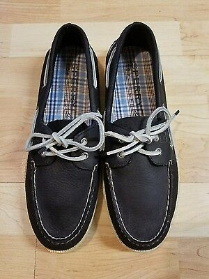 NEW Sperry Top Sider Mens Blue Leather Boat Shoes 0271544 SZ 10.5M