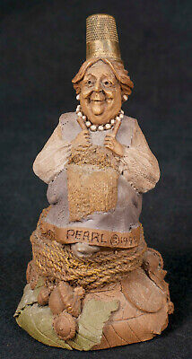 Tom Clark Thimble People Pearl #5187 Sewing Gnome Cairn Retired
