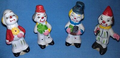 """""""Gifts From Around The World"""" Clown mini figurines, McCrory Corp. York, PA"""