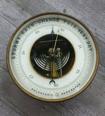 Antique Brass Holosteric Barometer – Made in France PNHB Paul Naudet
