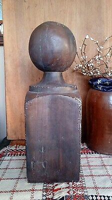 Antique Newel Bannister Post Finial Section Plaster Old Paint Salvage Cannonball