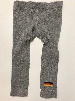 Grobe Brand Infants 86/92 (US 24 Months) Gray Germany Soccer Leggings