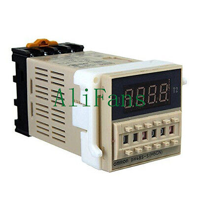 DH48S-S Digital AC 220V Precision Programmable Time Delay Relay With Socket Base