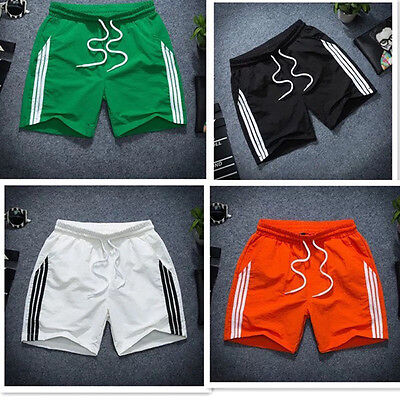 UK Mens Sports Gym Running Football Shorts  Quick Dry Casual Trunks Bottoms