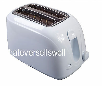 750W LOW WATTAGE COOL TOUCH 2 SLICE TOASTER travel camping caravan pop